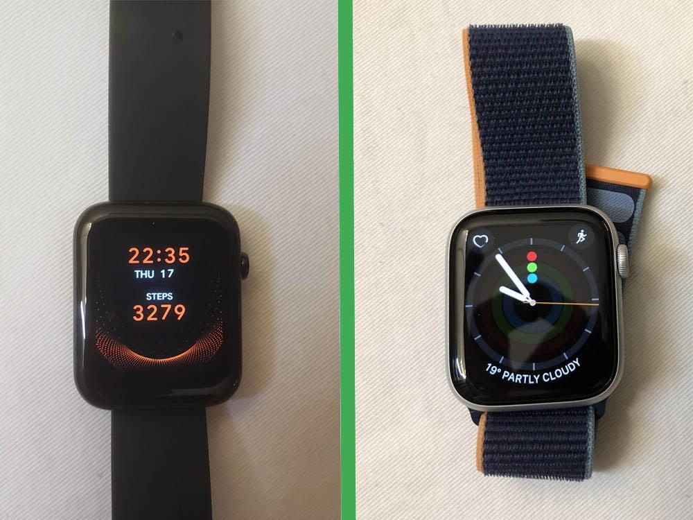 Ticwatch GTH vs Apple Watch Series 6 main