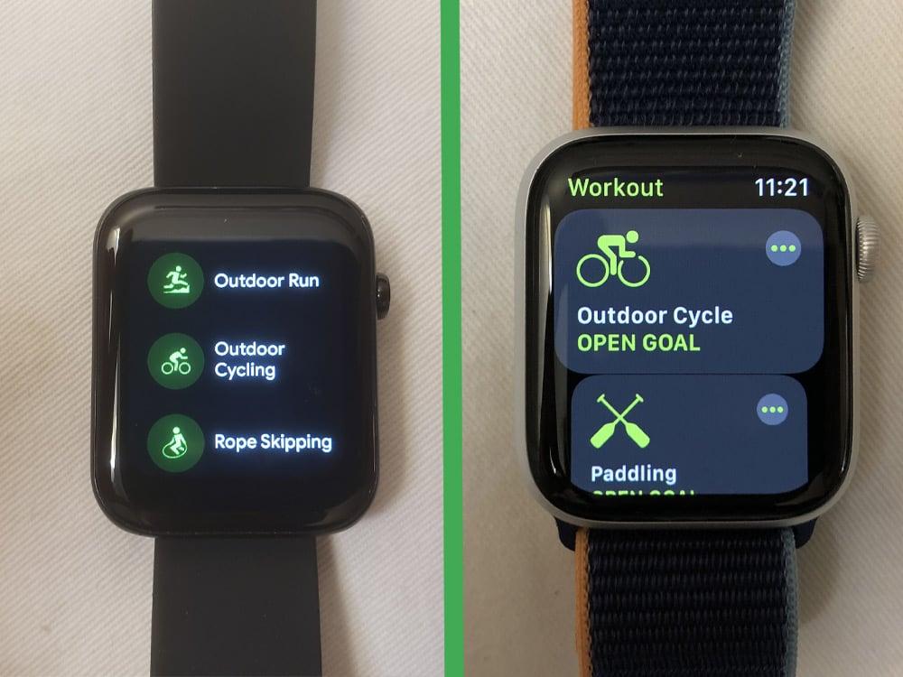 ticwatch gth vs apple watch series 6 workout