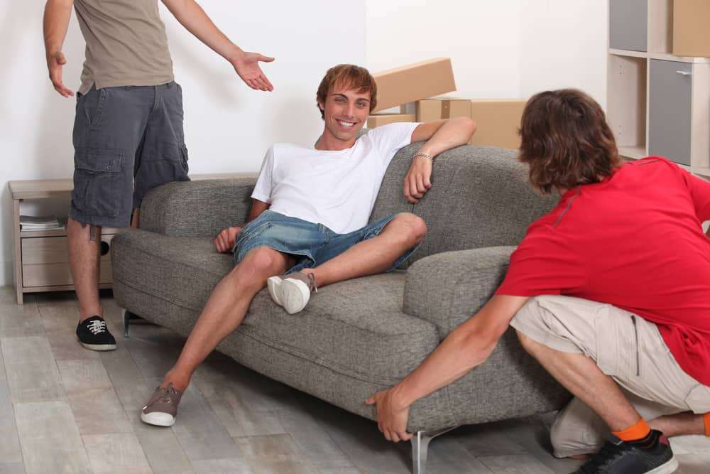 Three different men wearing three different cargo shorts.