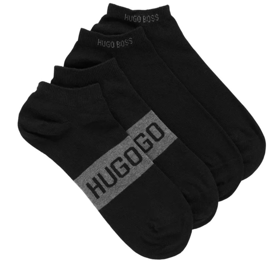The Two-pack of socks in a stretch-cotton blend from Hugo Boss.