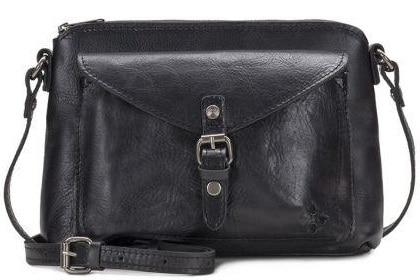 The Avellino Crossbody in black leather by Patricia Nash.