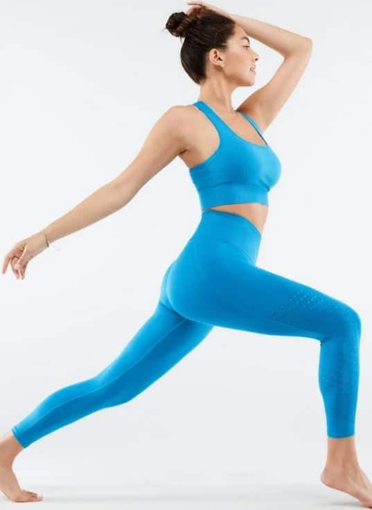 The Angle 2-piece ensemble outfit in blue from from Fabletics.