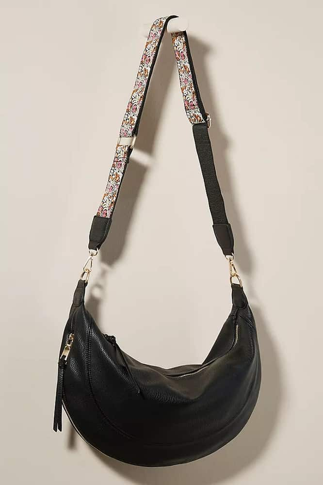 The Alexis Slouchy Crossbody Bag in black by Anthropologie.