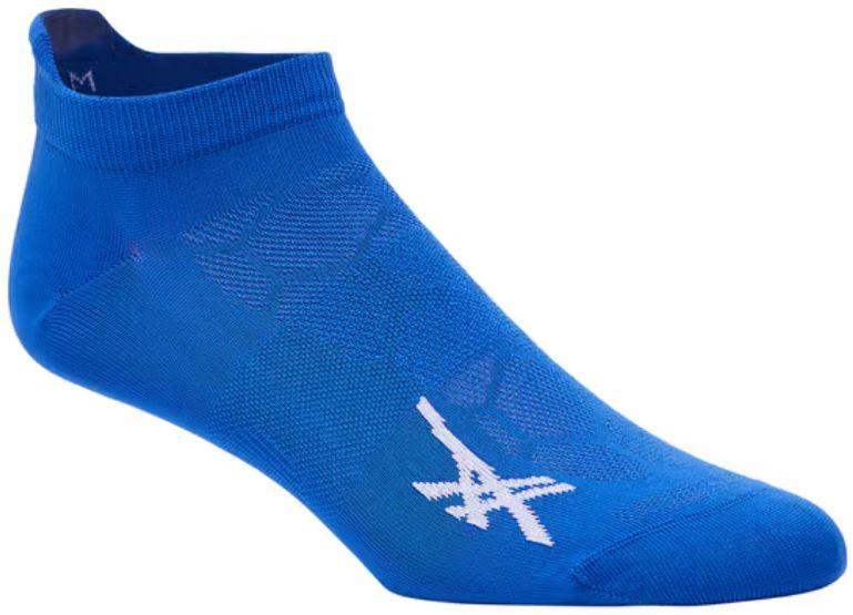 The blue light single tab socks from Asics.