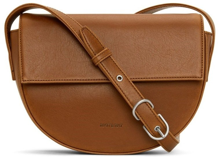 The Rith Vegan Saddlebag in brown leather by Matt and Nat.