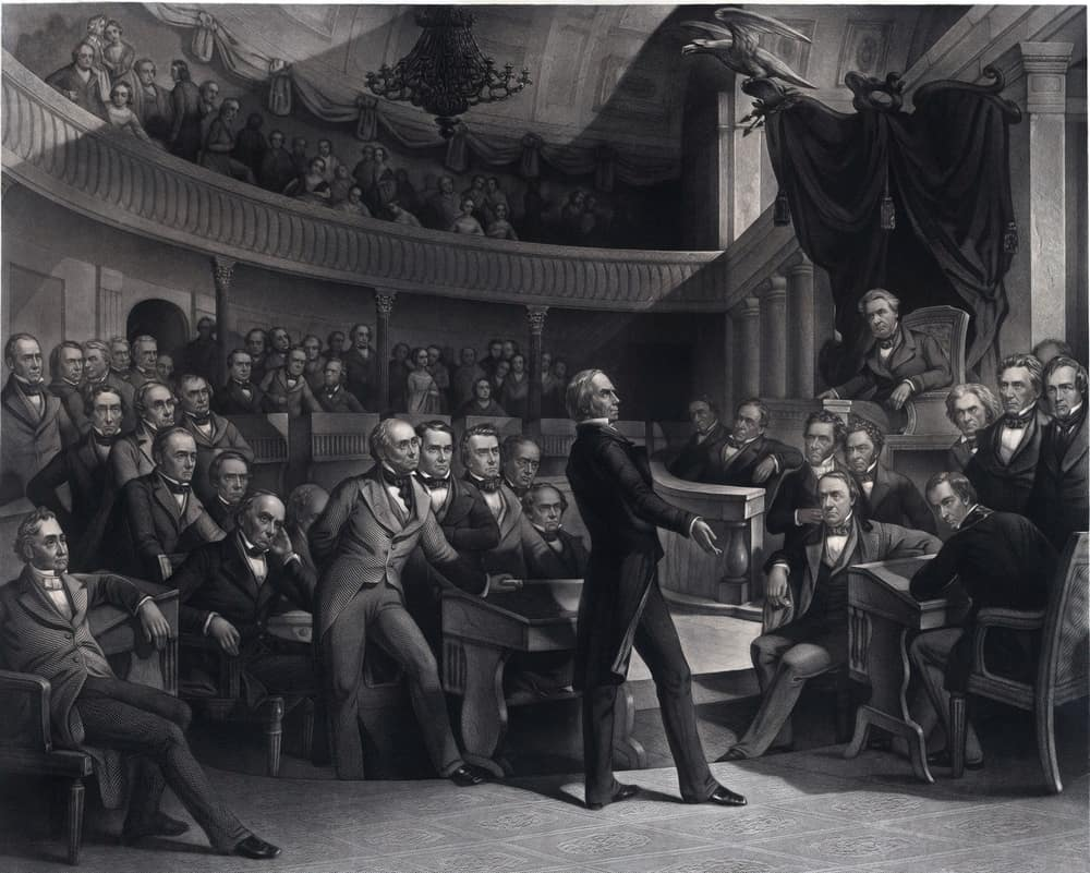 Henry Clay addressing the U.S. Senate with his plan, called the Compromise of 1850.