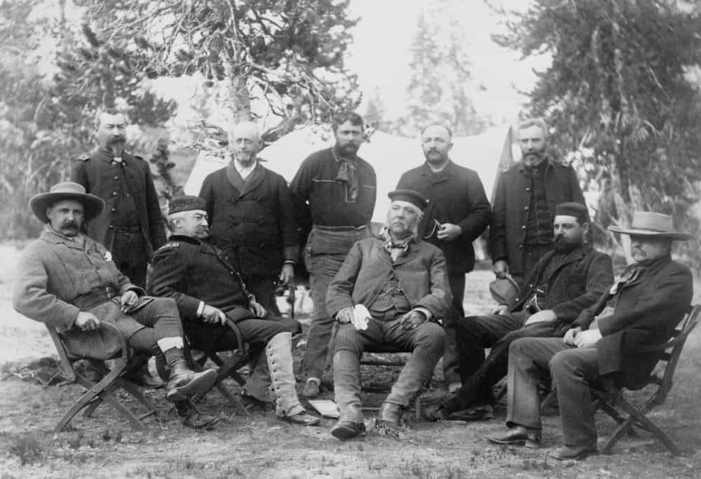 President Chester A. Arthur's expedition to Yellowstone National Park.