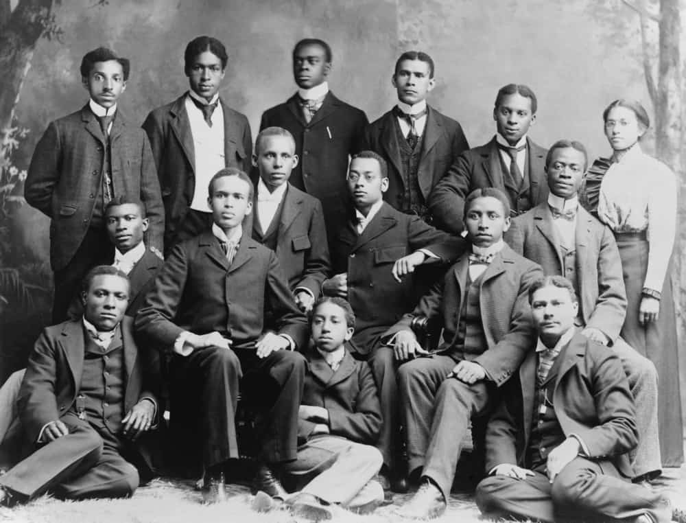 African American academic students at Roger Williams University in Nashville, Tennessee.