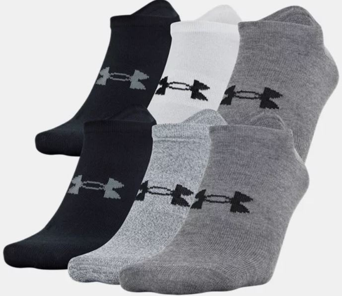 The Men's UA Essential Lite 6-Pack Socks from Under Armour.