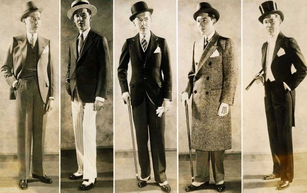 The well dressed man's wardrobe in 1929.