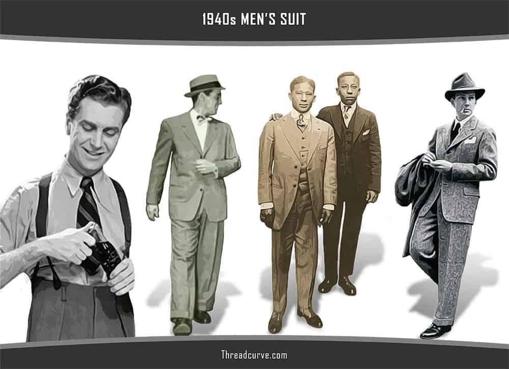 Men's suit in 1940s
