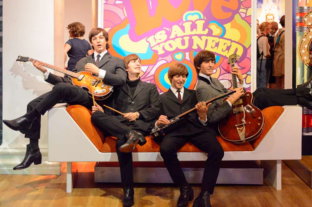The Beatles in Madame Tussauds wax museum.