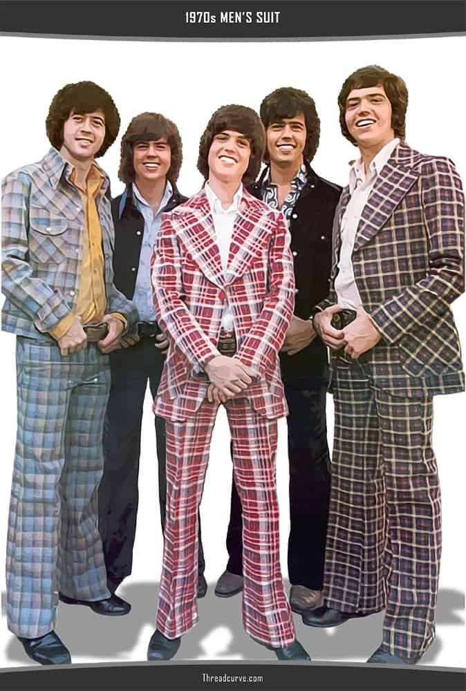 Men's suit in 1970s