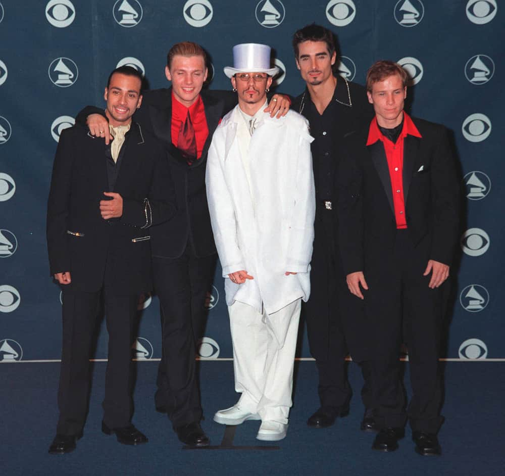 Backstreet Boys at the 41st Annual Grammy Awards.