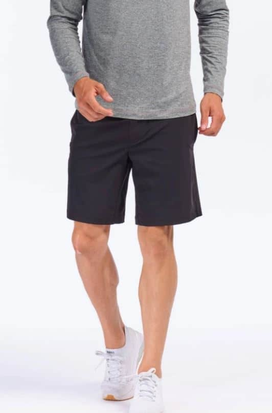 The Versatility Shorts in black from Rhone.