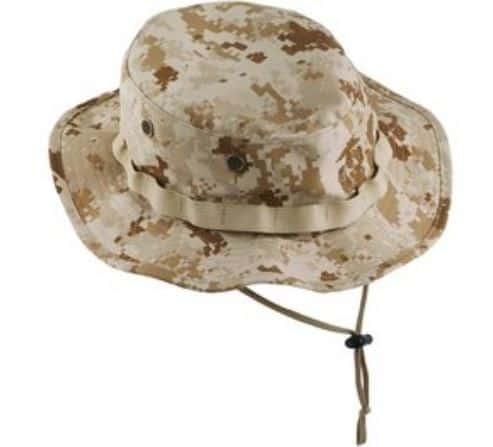 The USMC Desert Boonie Hat from My Navy Exchange.