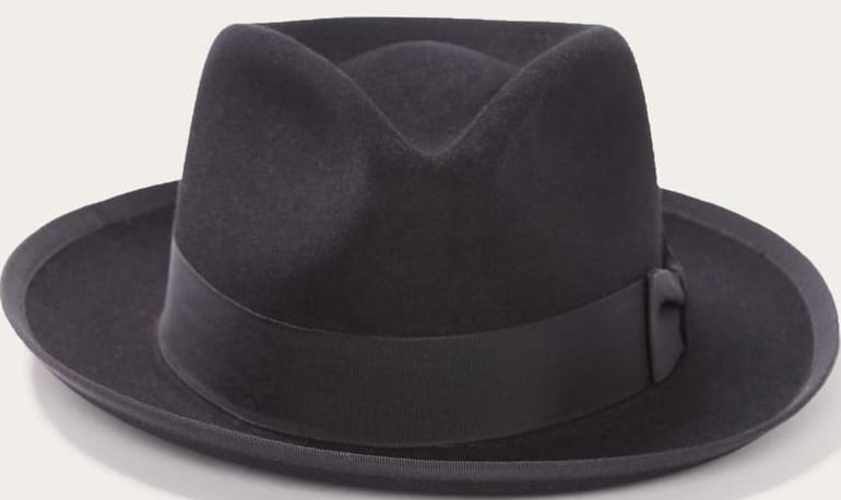 This is the Stetson Whippet Fedora Hat in black.