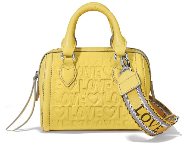 The Deeply In Love Mini Satchel in yellow leather by Brighton.