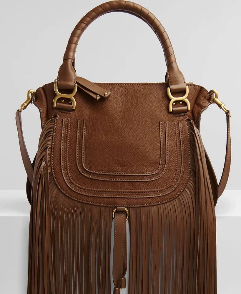 The Marcie brown leather Handbag by Chloe.