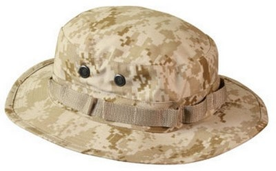 The Digital Desert Camouflage Boonie Hat from Army Navy Shop.