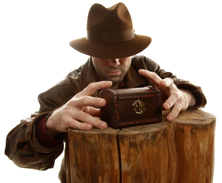 A man wearing an Indiana Jones costume.