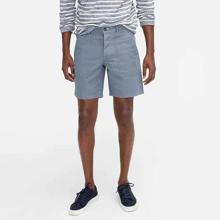 This is the 8 Inch Camp Shorts in linen from J. Crew.