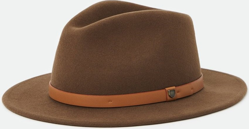 This is the Messer Fedora in toffee color from Brixton.