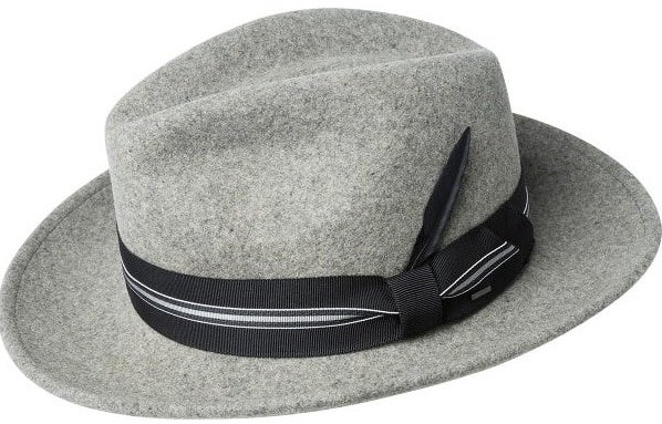 THis is the Bailey of Hollywood Marack Fedora Hat in gray.