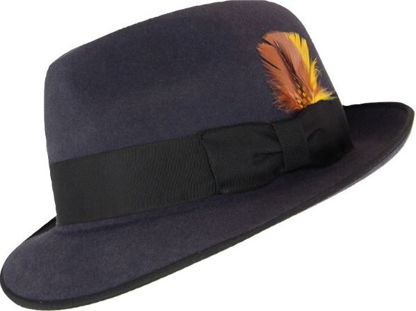 This is the Akubra Hampton Fedora Hat from Hats by the Hundred.