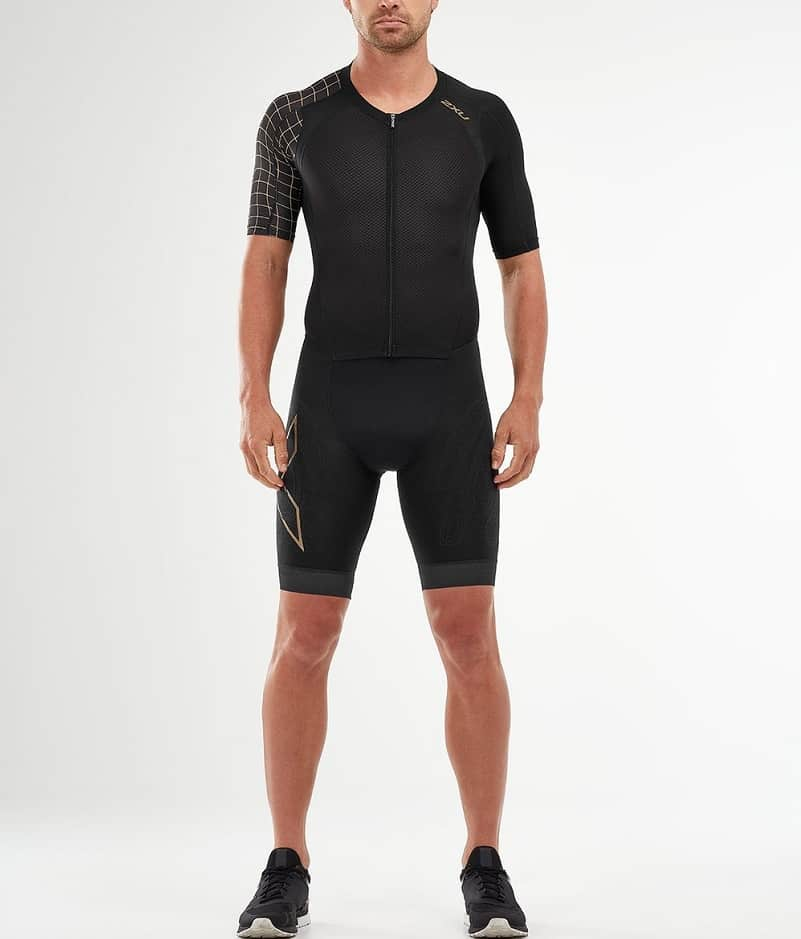 The Compression Full Zip Sleeved Trisuit from Two Times You.