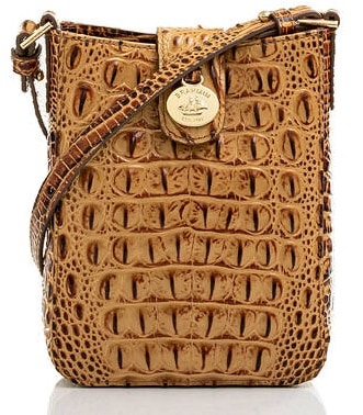 The Marley in patterned brown leather by Brahmin.