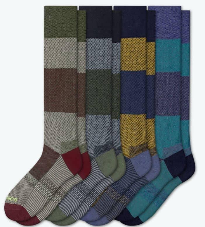 The Men's Dress Knee High Sock 4-Pack from Bombas.