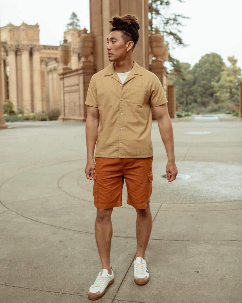 This is the organic ripstop jeans shorts in brown from Blue Organic.