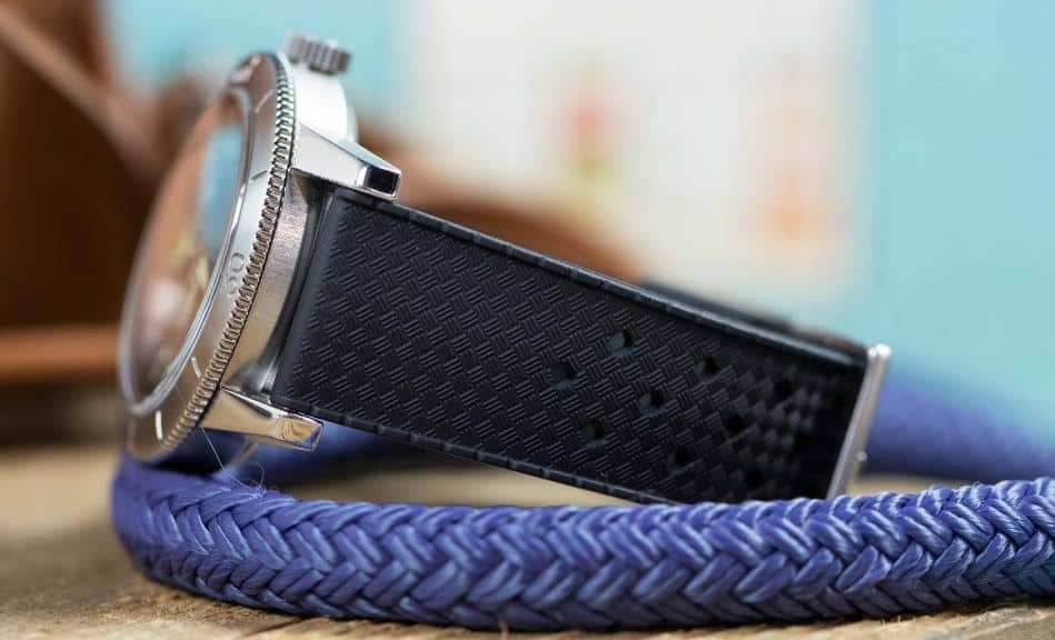 The Rockaway Vintage Style Rubber strap from Worn and Wound.