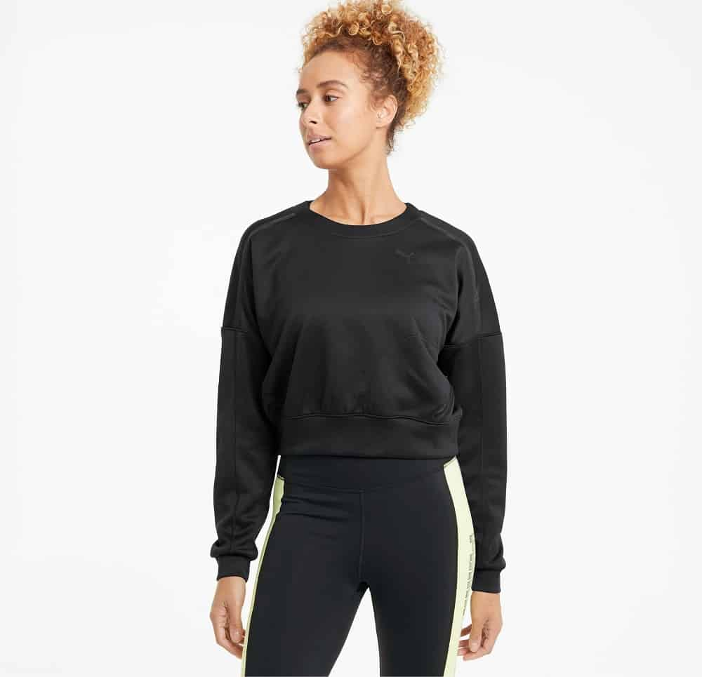 The Zip Women's Training Crewneck Sweatshirt from Puma.