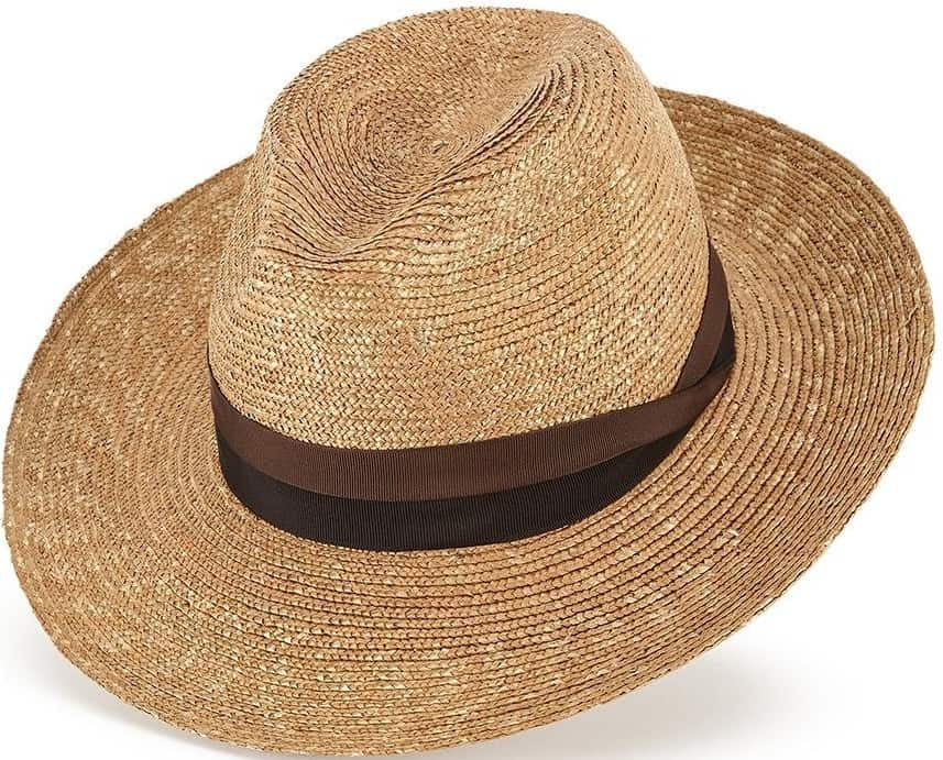This is the Tuscany Straw Hat Fedora from Lock & Co. Hatters.