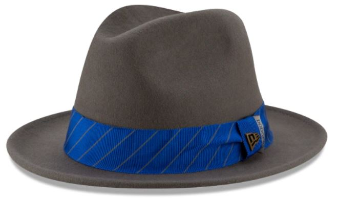 This is the Los Angeles Dodgers Team Wordmark Black Label Fedora from New Era.
