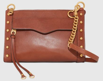 rossbody With Studs in brown leather by Rebecca Minkoff.