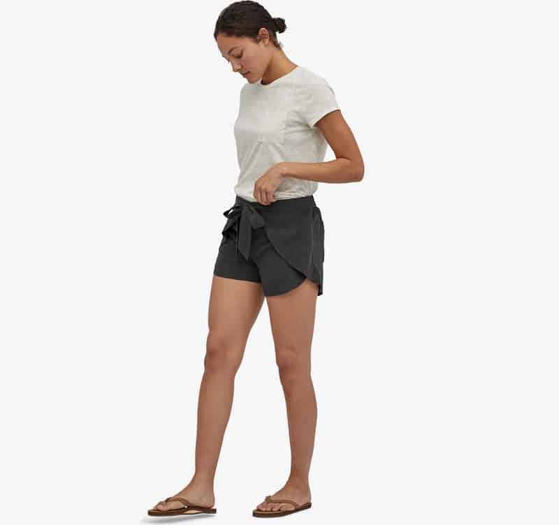 Womens' Garden Island Shorts in black from Patagonia.