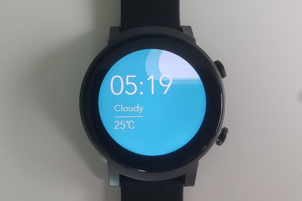 ticwatch e3 watch face
