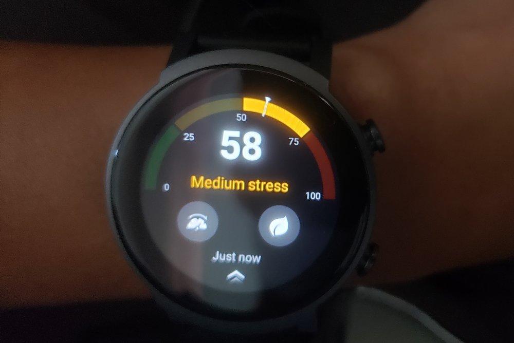 ticwatch e3 stress