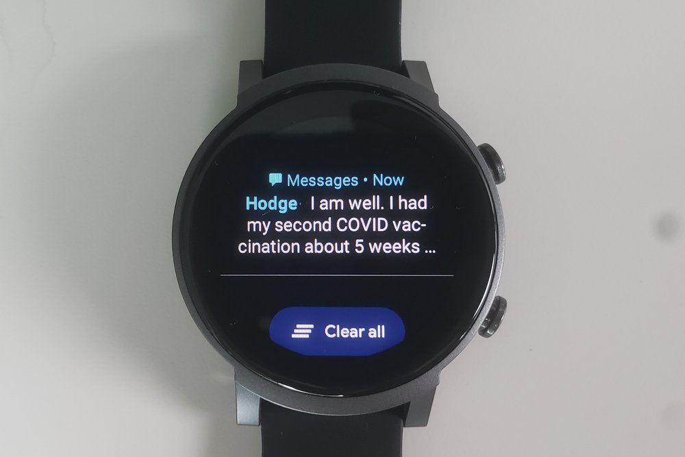 ticwatch e3 messages