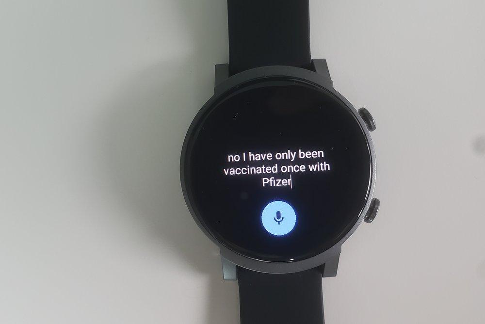 ticwatch e3 speech to text