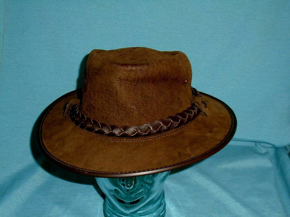 This is the Genuine Buffalo Bison Hide Leather Hat from eBay.
