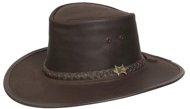 This is the BC Hat Stockman Oily Australian Leather Hat from Conner Hats.