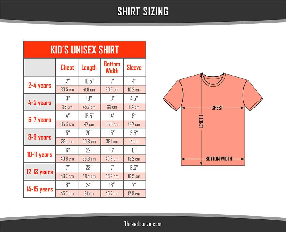 Kids Shirt Sizes Chart