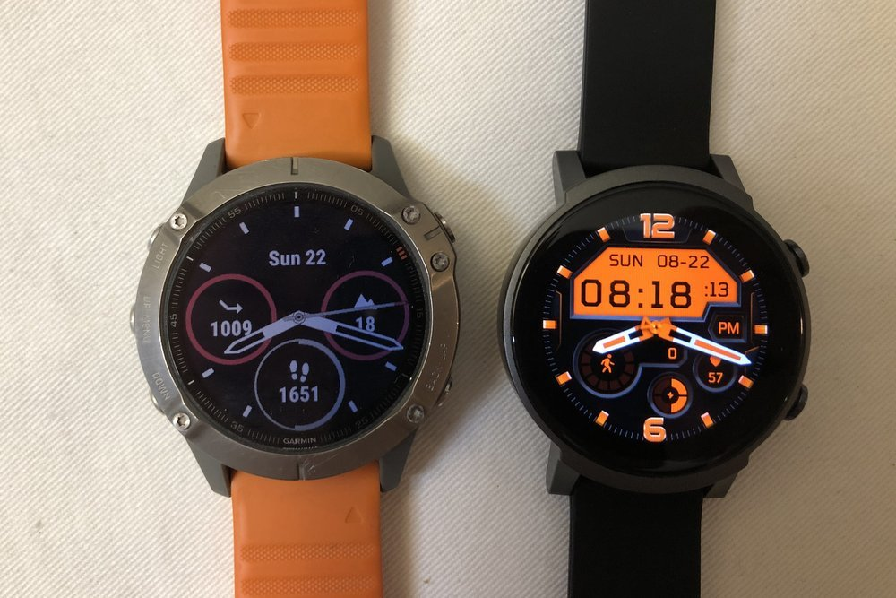 garmin fenix 6 vs ticwatch e3