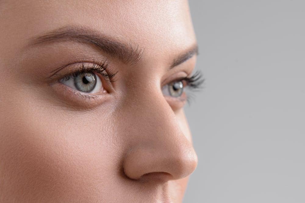 Close up of a nose in three quarter profile