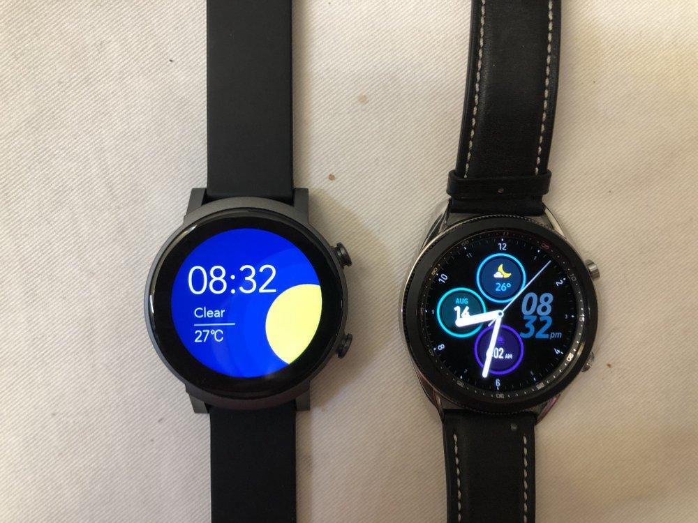 ticwatch e3 vs samsung galaxy watch 3