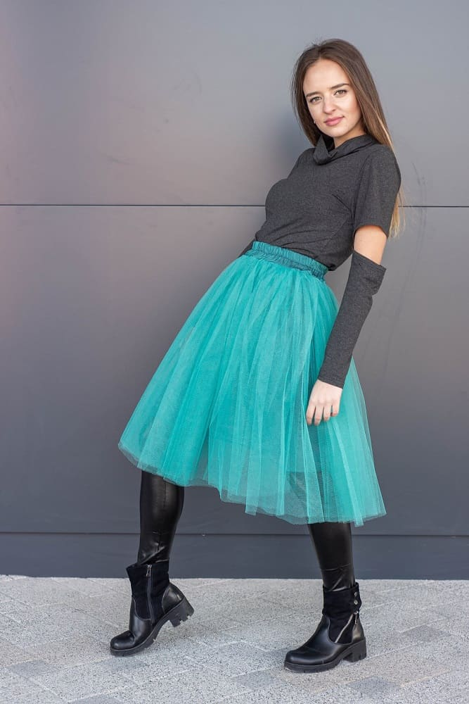 This is the Turquoise Tulle Plus-Size Summer Tutu Skirt from Etsy.